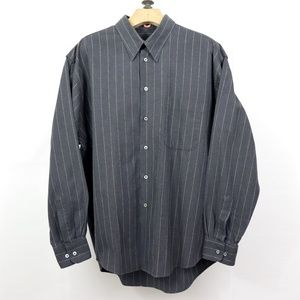 Burberry Gray Striped Dress Shirt
